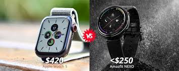 Amazfit NEXO vs. Apple Watch 5: Which One Is Better? Actually, You ...