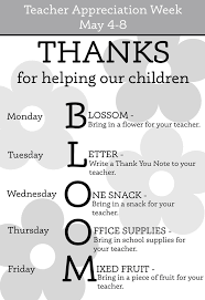 best ideas about teacher appreciation week teacher appreciation week schedule yahoo image search results