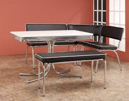 1950 Dining Room Furniture Retro Dining Room Sets Chrome Collection 120000 Coaster