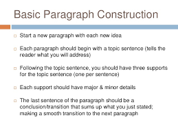 paragraph essaysbasic five paragraph essay      basic paragraph construction