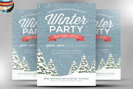 flyer heroes flyerheroes winter flyer templates collection rustic winter flyer template