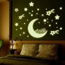 Star Bedroom Decor Cerative Diy Wall Sticker Luminous Paste Home Decor Fluorescent