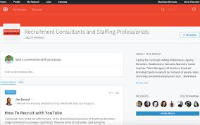 linkedin groups every recruiter should join social talent recruitment consultants staffing professionals linkedin group