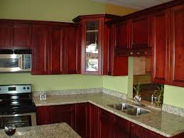 wall color ideas oak: red kitchen color schemes with oak cabinets