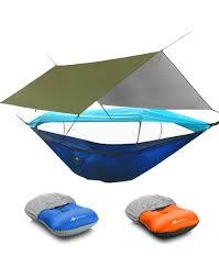 AYAMAYA <b>Double Camping Hammock</b> with Mosquito Net & Rainfly ...