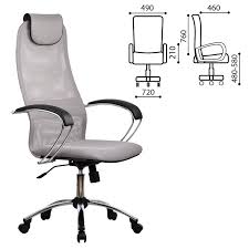 """Купить <b>Кресло офисное МЕТТА</b> """"BK-8CH"""", ткань-сетка, хром ..."""