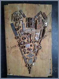 """Make this with all old keys and write """"key to my <b>heart</b>"""" 