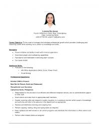 resume examples of career objectives on resume for objective gallery of resume and objective