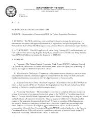army template for memorandum of understanding cover letter army template for memorandum of understanding staffing and recruitment information cpol home memorandum from army sample