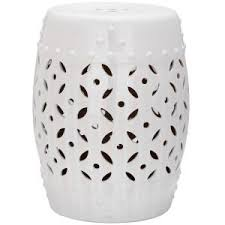 patio stool: safavieh lattice coin white ceramic patio stool acsa the home depot