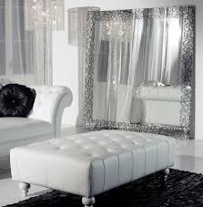 silver living room decor white
