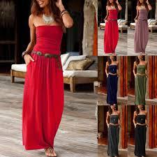 Women <b>Dresses</b> Sexy sexy Bandeau <b>elegant Holiday</b> Off Shoulder ...