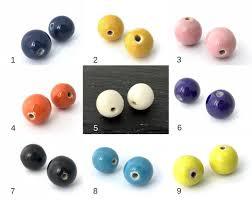 <b>6pc</b> 16mm Large Hole Ceramic Bead Clay bead Porcelain Bead | Etsy