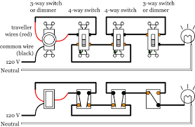 dimmer switches electrical 101 dimmer 3 and 4 way lighting wiring diagram