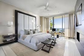 modern suite bedroom design features white