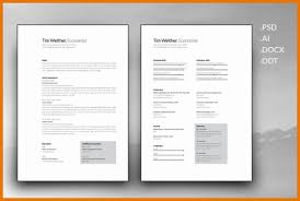 Resume Cover Letter Templates resume And Cover Letter Template png     Scope Of Work Template
