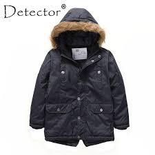 2018 <b>Detector Boys</b>' <b>Parka Jackets</b> Hooded Warmly Children Cotton ...