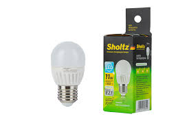 <b>Лампа светодиодная шар</b>, <b>SHOLTZ</b>, керамика 11Вт E27 4000K ...