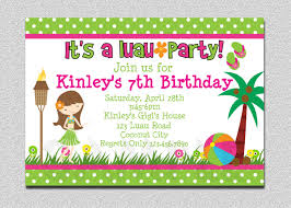 printable hawaiian birthday invitations printable luau birthday invitations