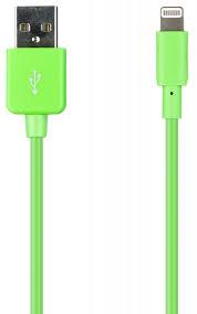 Кабель <b>Prolife</b> USB-<b>Apple Lightning 8pin</b> green — купить по ...