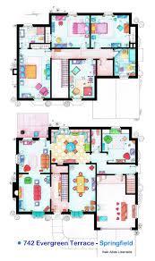 of Our Favorite TV Shows Home  amp  Apartment Floor Plans   Design MilkLizarralde TV Floorplan   Simpsons