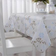rectangular dining table cover cloth knitted vintage: pvc plastic table cloth white peony oilproof waterproof rectangle dining table cover nappe coffee tablecloth home