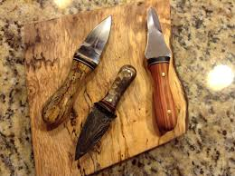 at home hobbies at home hobbies oyster knives spalted tamarind and damascus steel geeze