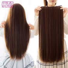 <b>WTB</b> 5 Clips/piece Long Straight Hair Extension <b>24 Inch</b> Long High ...