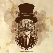 Premium Vector | <b>Hand painted steampunk</b> man illustration