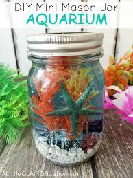 jar crafts home easy diy: mini mason jar aquarium mini mason jar aquariums pm mini mason jar aquarium