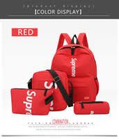 student canvas backpack junior high school student cute cartoon leisure travel bag