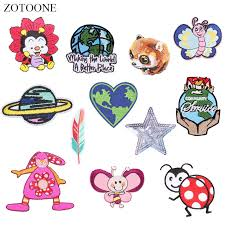 <b>ZOTOONE Planet</b> Insect Patches Ladybug Stickers Iron on Clothes ...