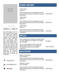 sample resume template ms word for job with work history microsoft word resume sample