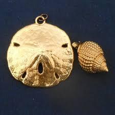 Jewelry | <b>Gold Plated Sand</b> Dollar <b>Gold Plated</b> Small Shell | Poshmark