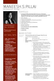 technical recruiter resume samples   visualcv resume samples databasetechnical recruiter   google india pvt ltd resume samples