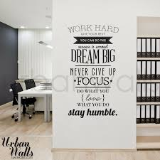 work hard office wall decal amazing wall quotes office