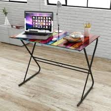 High Quality Glass Desk with Rainbow Pattern Compact ... - Vova