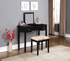 Linon Home Dcor Linon Black Butterfly Stool Vanity ... - Amazon.com
