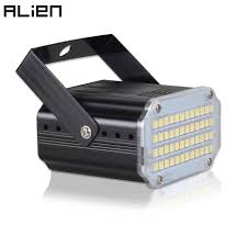 ALIEN 48 LED RGB UV White <b>Strobe Lights</b> Disco DJ Party Holiday ...