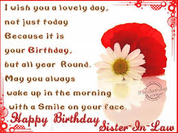 Happy Birthday Wishes Sister-in-law 25881wall.jpg   Quotes ... via Relatably.com