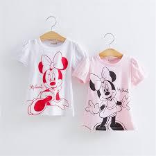 <b>Seartist Baby Girls Summer</b> Minnie Tshirt Cartoon Short Sleeved T ...