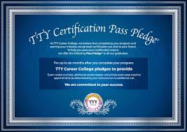 tty career college learning to advance tty career college pass pledge