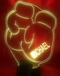 <b>Boxing</b> Gloves Light Up Lamp <b>LED</b> Personalized Free Engraved ...