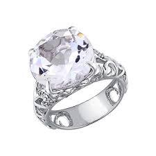 <b>Кольцо</b> с горным хрусталём из <b>серебра</b> SOKOLOV – купить в ...