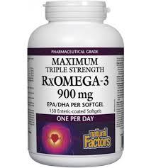 <b>Natural Factors RxOmega-3</b> Triple Strength 900mg EPA/DHA | Body ...