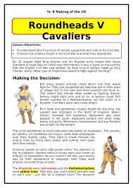 english civil wars worksheets  ks amp ks lesson resources