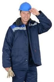 "<b>Куртка</b> ""БРИГАДИР"" <b>мужская с</b> меховым ворот. синий с ..."