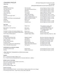 resume for artistic director cipanewsletter resume johanna pinzler