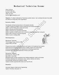 samples sample mechanical technician cover letter