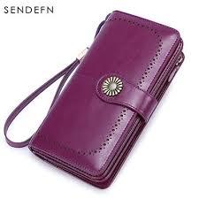 SENDEFN RFID <b>Hot</b> Women's <b>Clutch</b> Leather Wallet Female <b>Long</b> ...